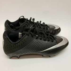 Nike Black Silver Vapor Speed Low Football Cleats
